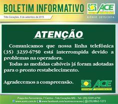 Folha do Sul - Blog do Paulão no ar desde 15/4/2012: BOLETIM ACE: TELEFONE