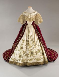 """Court dress in the movie L. Visconti's """"Ludwig"""", 1865 reproduction"""