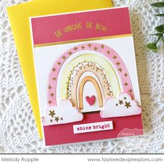 Somewhere Over the Rainbow Card Making Kit Rainbow Card, Rainbow Colors, Scrapbooking Layouts, Scrapbook Cards, Card Making Kits, Over The Rainbow, Paper Pumpkin, Clear Stamps, Diy Cards