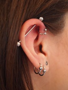 What is triple cartilage piercing Multiple ear piercings are stirring interest in most passionate body piercing enthusiasts looking for representing a unique style of fashion. Description from bodypiercingmag.com. I searched for this on bing.com/images