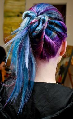 colored hair..
