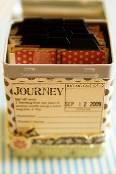 ATC Tin by Rachel Carlson - tabs in tin complete | Flickr - Photo Sharing!