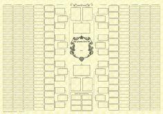 Family Tree Chart | 10 Generation Bowtie Blank Family Tree Chart