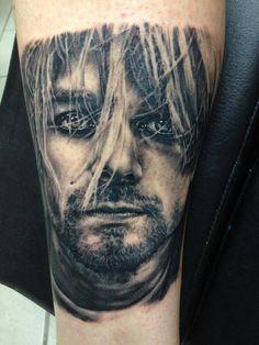 Kurt Cobain portrait tattoo. MATTIE