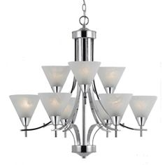 a23156f44942 Contemporary 9-light Plated Chrome Chandelier Cool Lighting