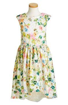 Halabaloo Floral Print Dress (Toddler Girls, Little Girls & Big Girls) available at #Nordstrom