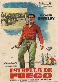 Elvis Presley movie poster Flaming Star by BlueGrizzlePapers, $15.00