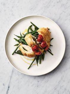 Flaky pastry pesto chicken