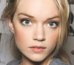 Wedding makeup inspiration.  I love the dramatic eyes but more natural lips/cheeks.