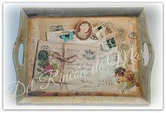 Del Rincón de Mar: Bandeja de madera decorada