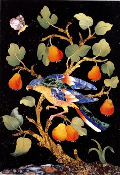 Parrot in a Pear Tree by a Florentine Master c 1550-1560