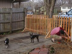 Portable Fence | free standing fence, covering the driveway … | Flickr