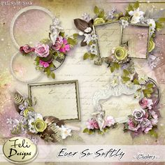 Ever So Softly Clusters (PU/S4H) by Feli Designs