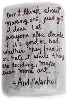 Andy Warhol make art