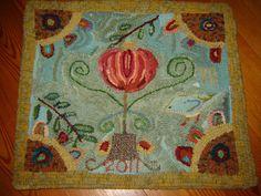 love this original primitive folk art rug on etsy