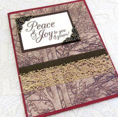Peace and Joy Card  Christmas Card  Holiday by PrettyByrdDesigns