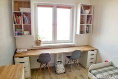 O design de Laís Rosa é puro . Home Office Space, Home Office Design, Home Office Decor, Home Decor, Teen Room Designs, Kids Room Design, Teenager Zimmer Design, Spare Bedroom Office, Bedroom Built Ins