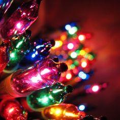 Lumières de Noël règles composition bokeh