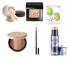 Untitled #4 by alondra-olivares on Polyvore featuring beauty, Bobbi Brown Cosmetics, Too Faced Cosmetics, beautyblender, Benefit, Laura Mercier and NYX