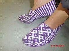 Одноклассники Lana, Diy And Crafts, Knitting Patterns, Slippers, Socks, Crochet, Fashion, Tejidos, Zapatos