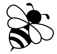 Znalezione obrazy dla zapytania black and white for newborn Black And White Baby, Black And White Drawing, Black And White Pictures, Bee Silhouette, Silhouette Design, Ty Peluche, Baby Flash Cards, Art Drawings For Kids, Bee Cards