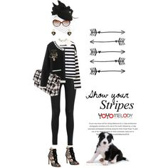 Show your stripes by pensivepeacock on Polyvore featuring A.W.A.K.E., J Brand, SJP, Chanel and Brazen