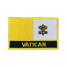 Vatican Flag Patch Embroidered Patch Gold Border Iron On patch Sew on Patch Bag Patch patch iron on patch flag patch Nation Flag Gold Border Gold Border Patch Patches sew on patch Embroidered patch iron on patches Vatican Vatican patch Vatican flag meet you on www.Fleckenworld.com