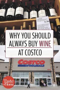 Why You Should Always Buy Wine at Costco Wine Vineyards, I Drink Coffee, Italian Wine, Taste Of Home, Wine Cellar, Wine Rack, Smoothies, Wine, Smoothie