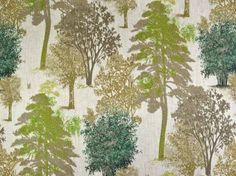 Printed linen curtain fabric
