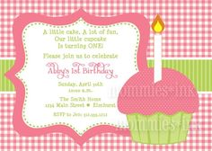 Pink Gingham and Purple Polka Dot Cupcake Birthday by MommiesInk, $12.00