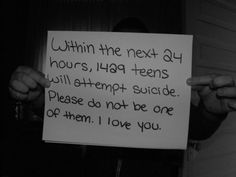 STAY STRONG!!! I love you, I will talk. All night if I have to...So you will stay!♥ this is wrong lets stop!