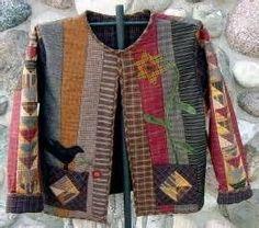 primitive gathering homespun j Quilted Sweatshirt Jacket, Quilted Jacket, Vest Jacket, Quilted Clothes, Sewing Clothes, Sweatshirt Refashion, Primitive Gatherings, Pulls, Wearable Art