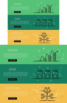 Grow. Save. Fortune. Web banners
