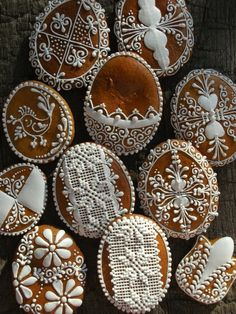 Lace Cookies, Royal Icing Cookies, No Bake Cookies, Easter Cookies, Christmas Cookies, Cookie Designs, Biscuit Recipe, Cakes And More, Cookie Decorating