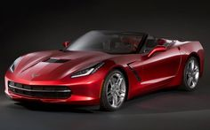 2014 Chevrolet Corvette convertible front three quarter view