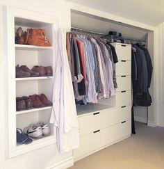 Nordli drawers turned built-in closet                              …