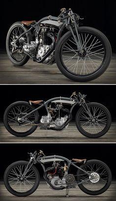 Ooh La La: A Rudge-Whitworth 'bitsa' from France Vintage Bikes, Vintage Motorcycles, Custom Motorcycles, Custom Bikes, Vincent Motorcycle, Retro Motorcycle, Bobber Bikes, Bobber Motorcycle, Powered Bicycle