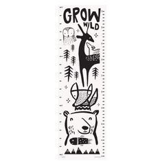 DESCRIPTION This growth chart features sweet animal faces that smile as your little one grows. Ethically and sustainably made in India using screen printing on organic cotton canvas, finished with a l