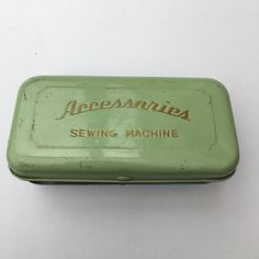 A personal favourite from my Etsy shop https://www.etsy.com/uk/listing/516504422/vintage-sewing-tin-sewing-machine