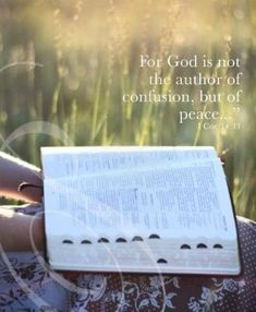 For God is not the author of confusion, but of peace. Picture Quotes.