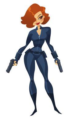 Black Widow by elgunto.deviantart.com on @deviantART ✤ || CHARACTER DESIGN…