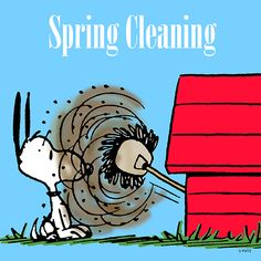 Spring cleaning - Woodstock is drilling Snoopy! Charlie Brown Y Snoopy, Snoopy Love, Snoopy And Woodstock, Snoopy Cartoon, Peanuts Cartoon, Peanuts Snoopy, Snoopy Comics, Minions, Cleaning Quotes