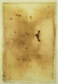 Galileo's drawing of sunspots