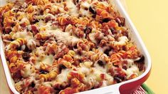 Take just 20 minutes to put together this pasta bake, and dinner for the next night is done!