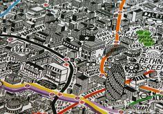 My Jenni Sparks hand drawn London map