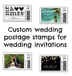 A wide variety of custom personalized wedding postage stamps for your wedding invitations! #weddingpostagestamps