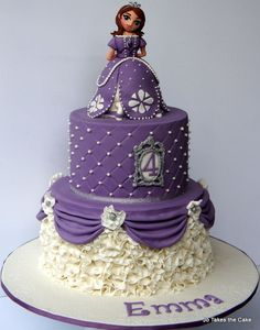 Princess Sofia themed birthday cake