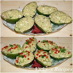 Salată rapidă de ton cu avocado – Vicky's Recipes Zucchini, Sweets, Vegetables, Food, Green, Gummi Candy, Candy, Essen, Goodies