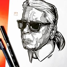 Incredible portrait drawn with Tombow Dual Brush Pens Tombow Dual Brush Pen, Rapper Art, You Better Work, Sketchbooks, Pens, Illustration Art, The Incredibles, Draw, Portrait