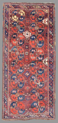 Karakalpak Central Asia , 19th C (3rd Q)  This rug belongs to a group of Central Asian weavings that still poses significant questions to admirers of Central Asian rugs.